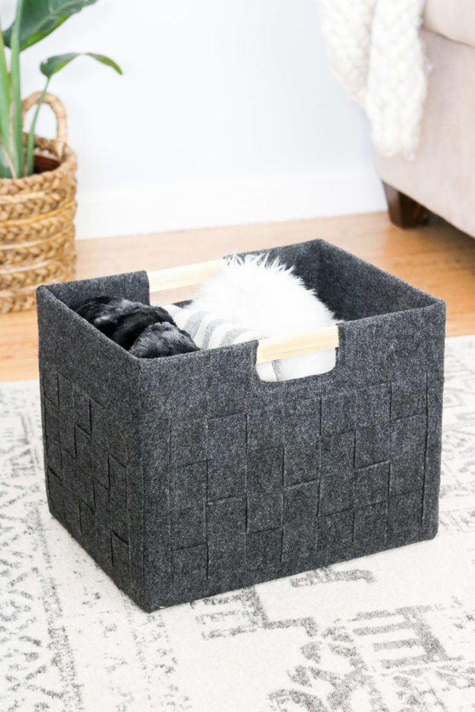 diy felt storage cube