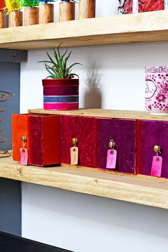 velvet boxes for storage