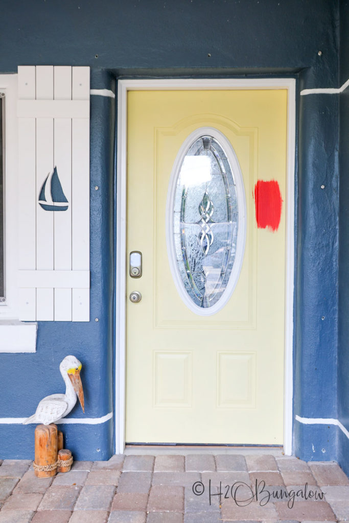 How To Paint A Front Door Without Brush Marks H2obungalow