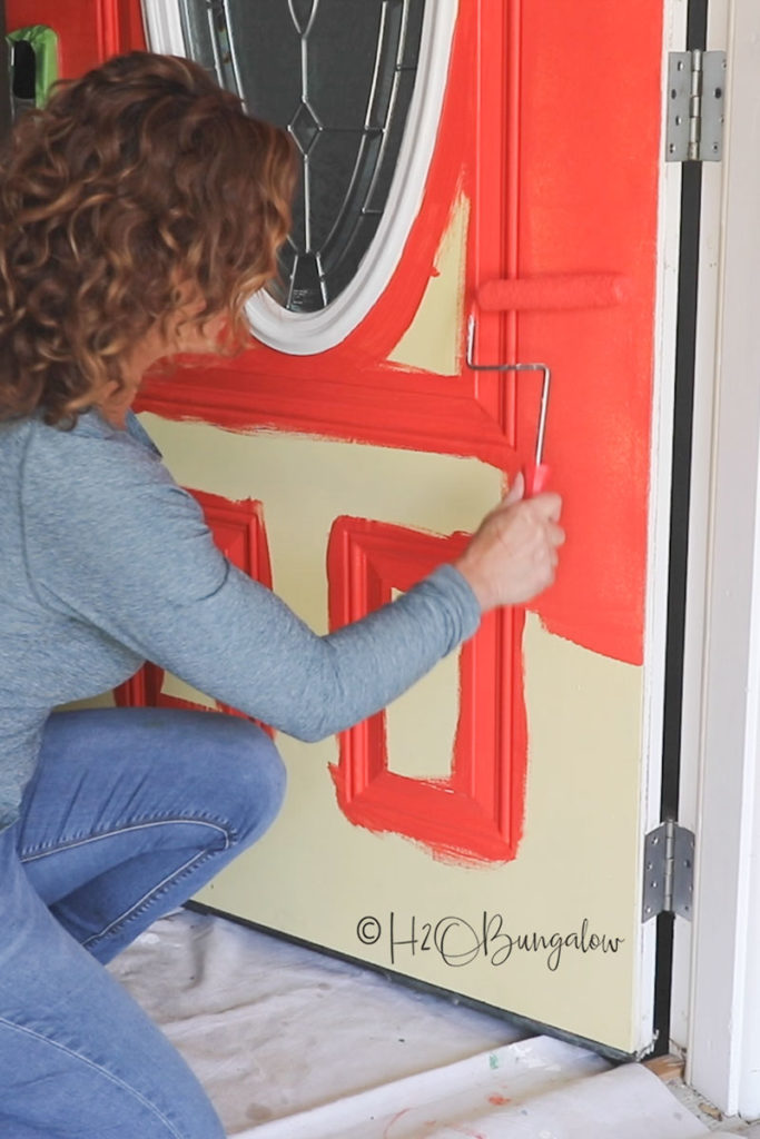 Painting front door without brush strokes