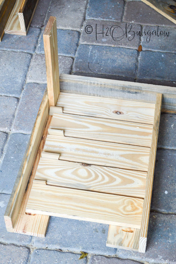 step to build planter