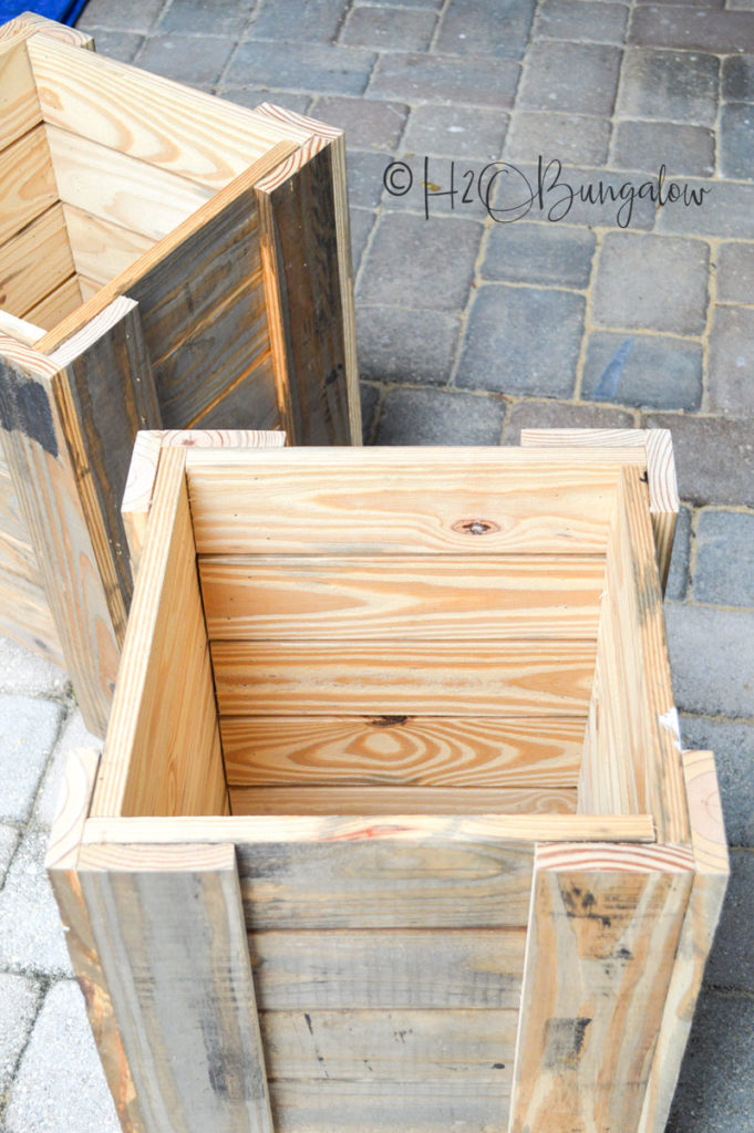 Assembling Wood Planter boxes