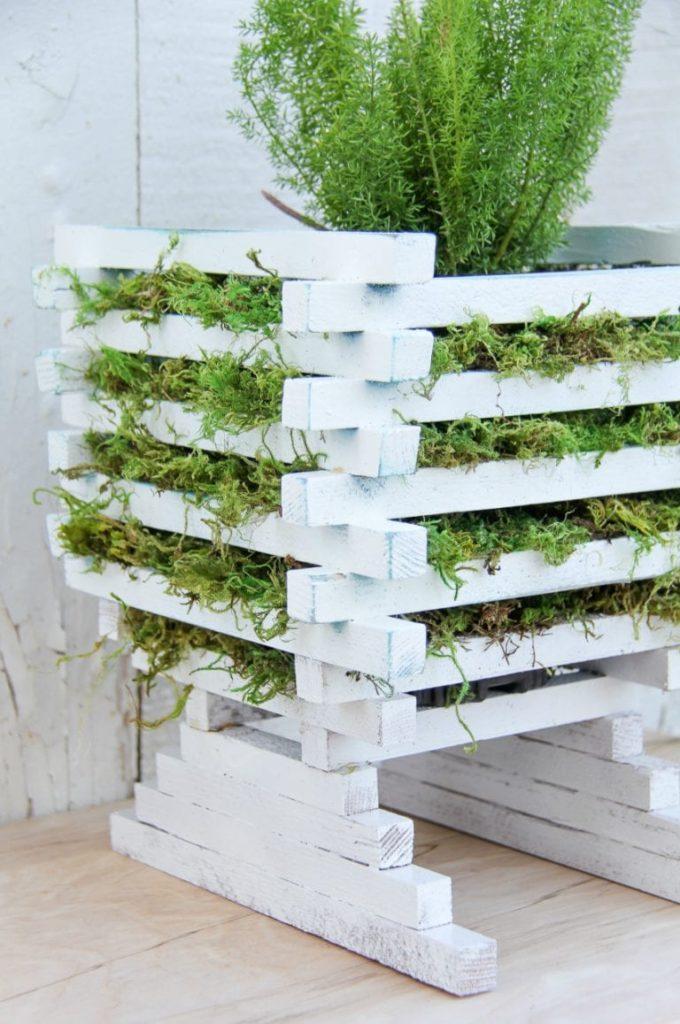 hide pot in planter
