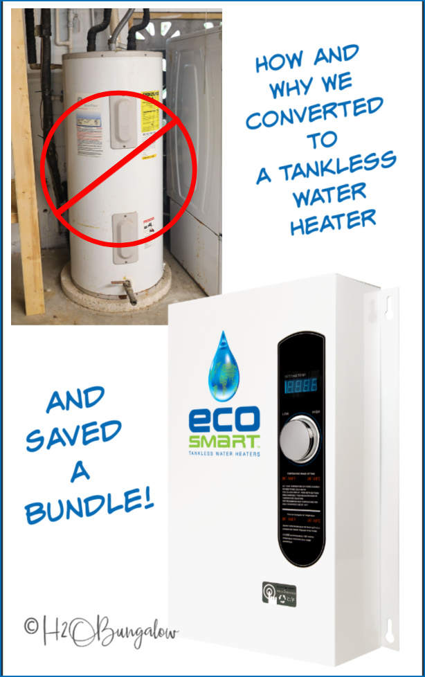 How to switch to a tankless water heater for your home. We made the switch from 2 propane and 1 electric tanked water heaters to all electric tankless and love it!
