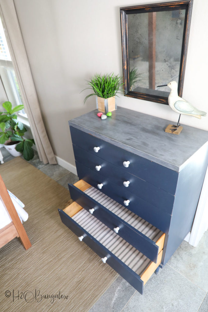 lined dresser drawers with drawer liner