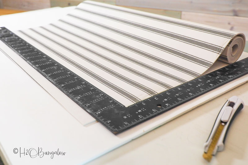 metal ruler edge to cut drawer liner