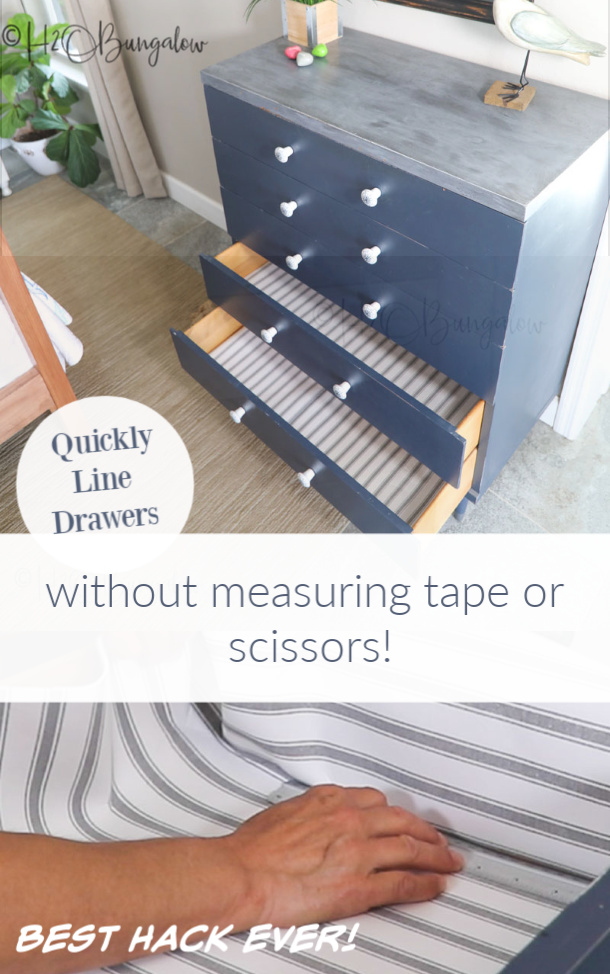 Best hack ever! How to cut perfect drawer and shelf liners perfectly every time no matter the size or shape of your drawer or shelf. It's fast too!