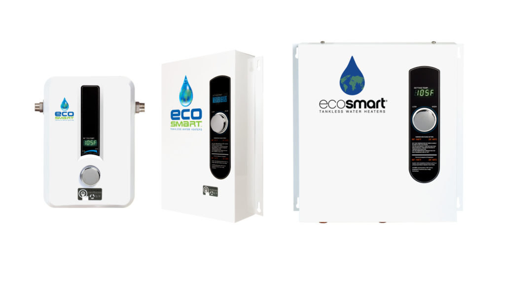 picture of different size EcoSmart water heaters