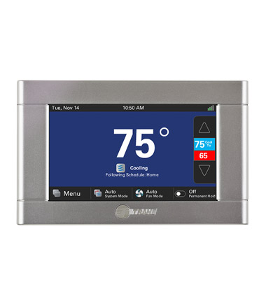 Trane Programmable thermostat to make a heating and cooling system last longer