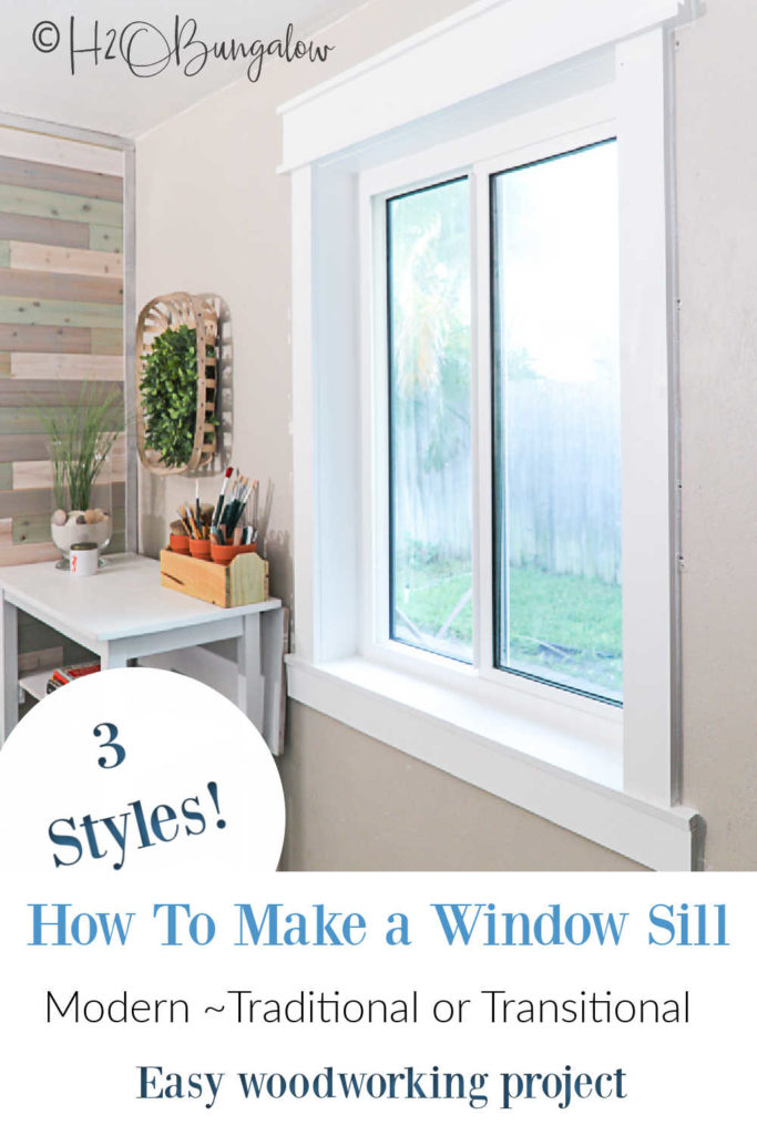 How to make a window sill in a few simple steps, what window sill material to use, tips on how to choose the right style for your home and more.  Video tutorial included.  #woodworking #windows #windowtrim