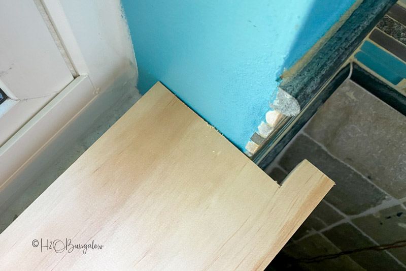 dry fitting new window ledge
