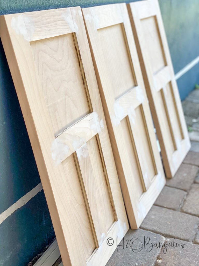 new doors for built in makeover
