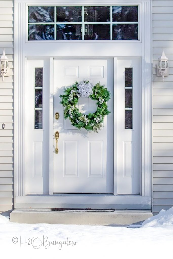 Front door sealed from winter cold a tip to help heating and HVAC systems last longer