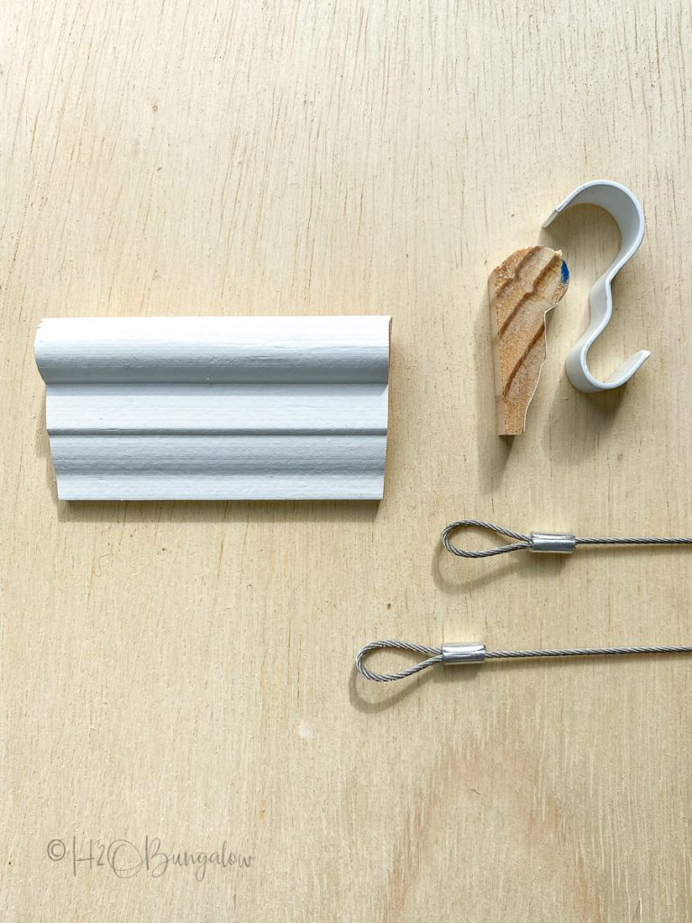 picture rail parts, hooks, moulding and hangers