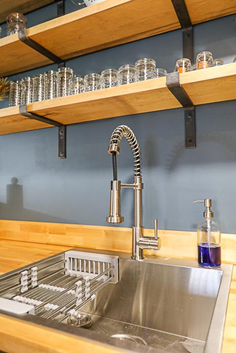 DIY wood countertop in kitchen