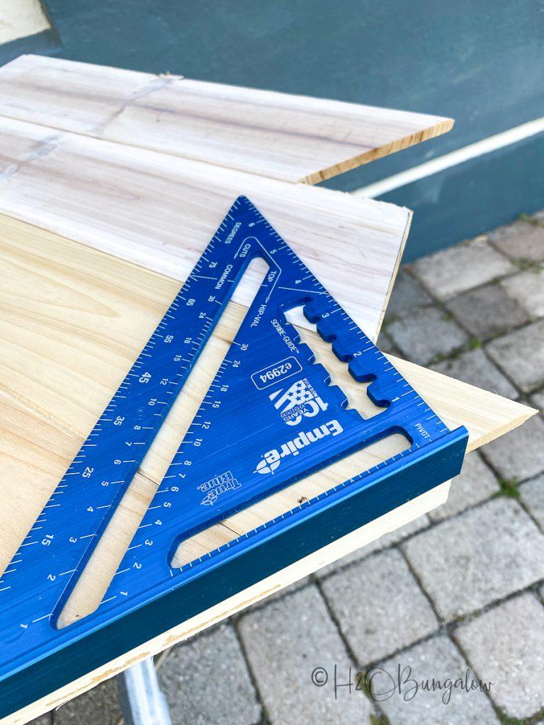 How to trim wood overlay on door