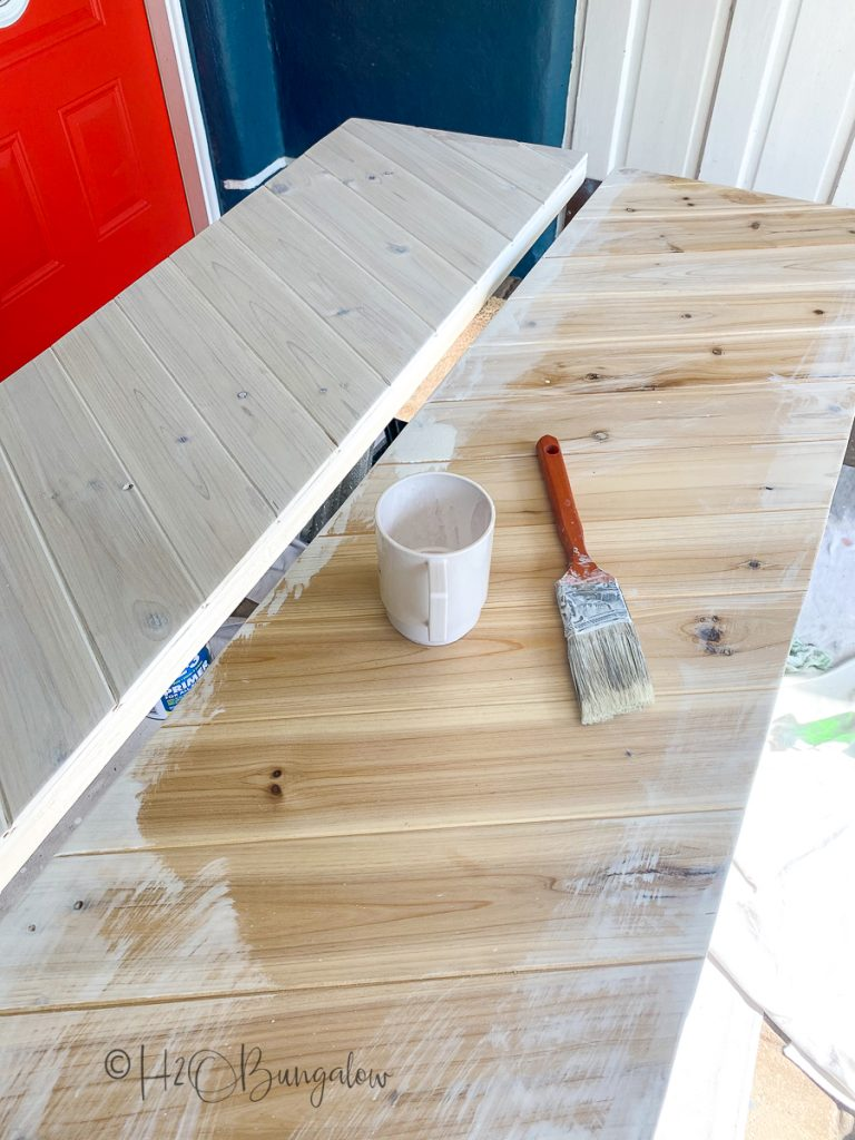 painting doors after adding chevron pattern over hollow core doors to update