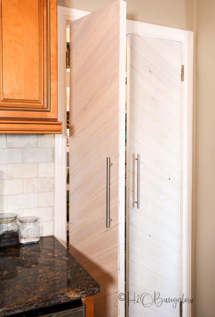 Finished door after hollow core door makeover