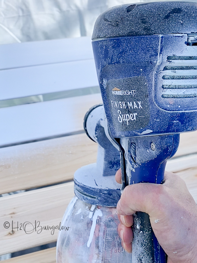 close up of super finish max paint sprayer