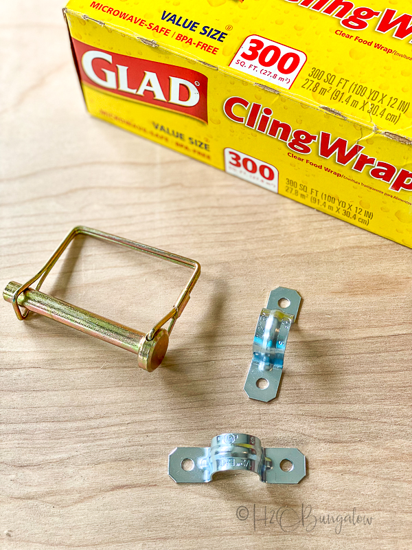hardware to make paper roll note holder