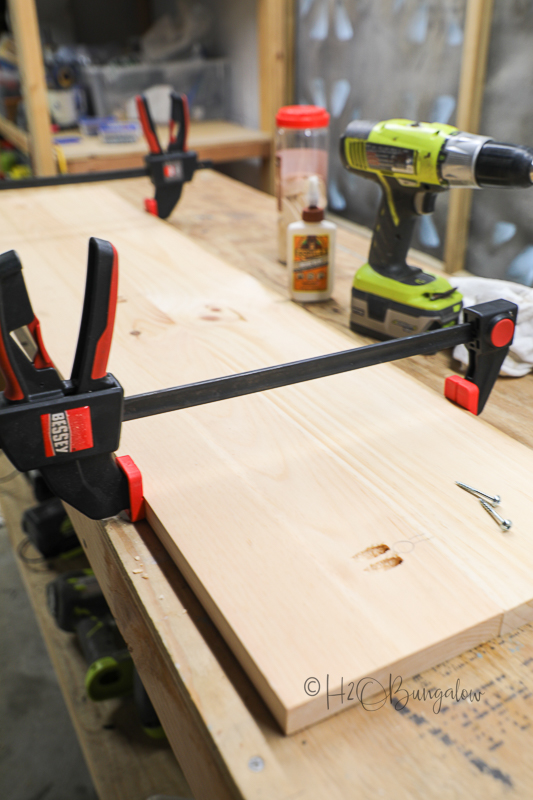 clamps holding table top together
